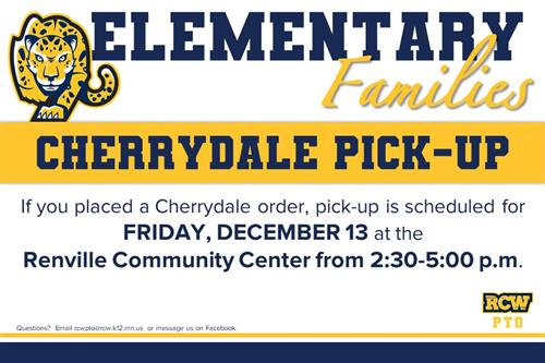 Elementary Fundraiser Cherrydale Pick up 12/13